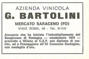 Premio ottenuto da Cantina Bartolini